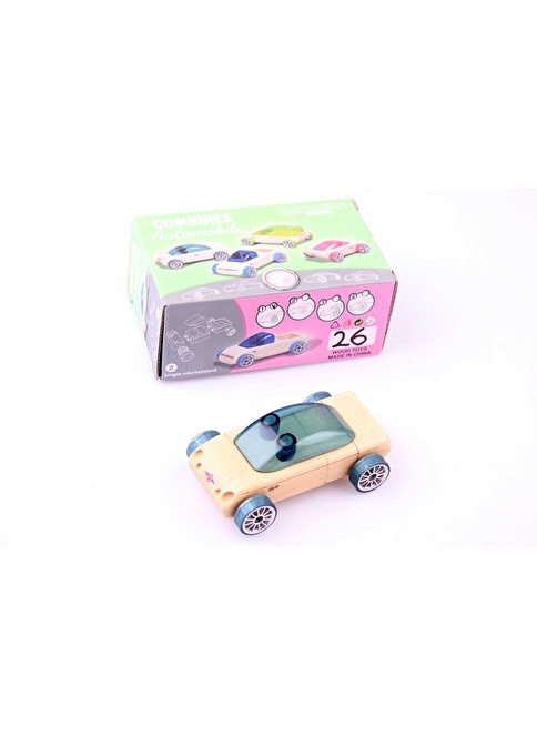 Learning Toys Ahşap Otomobil İnşaa Seti Renkli